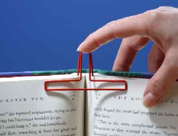 Inserting the EZ Book Clip is easy!
